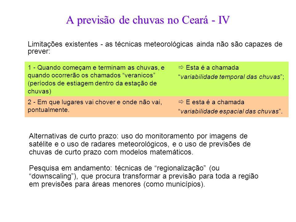 A previsão de chuvas no Ceará - IV