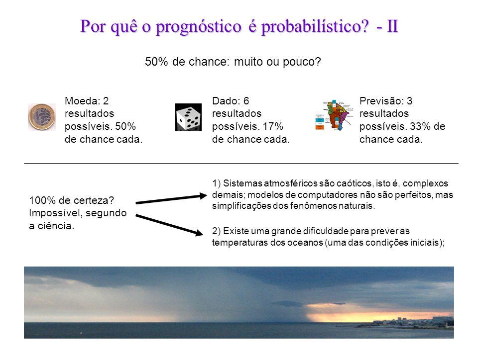 Por quê o prognóstico é probabilístico - II