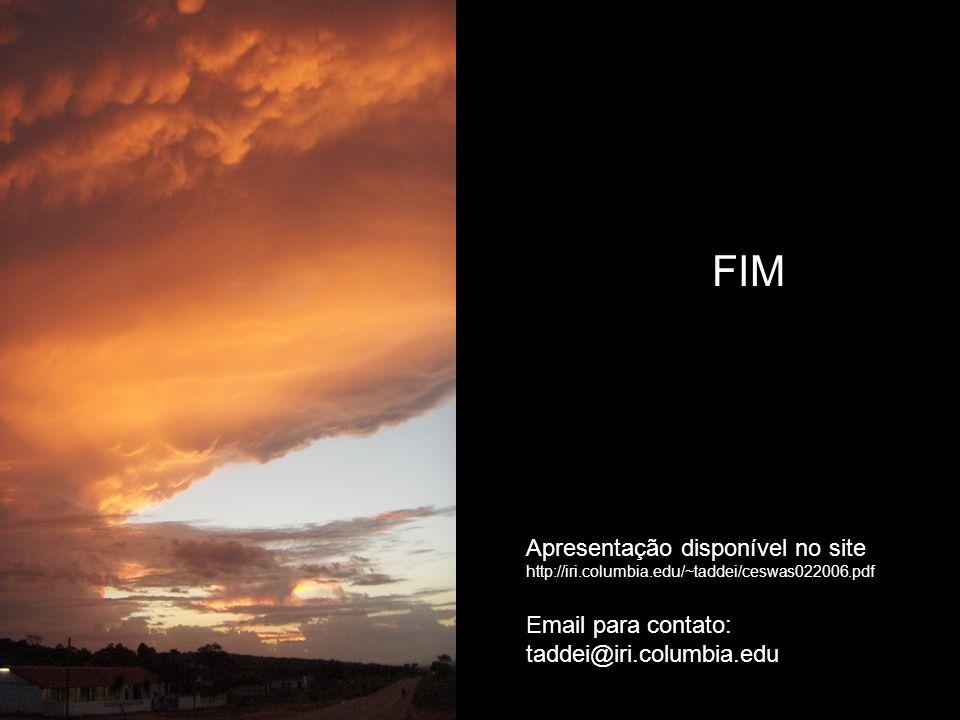 FIM Email para contato: taddei@iri.columbia.edu