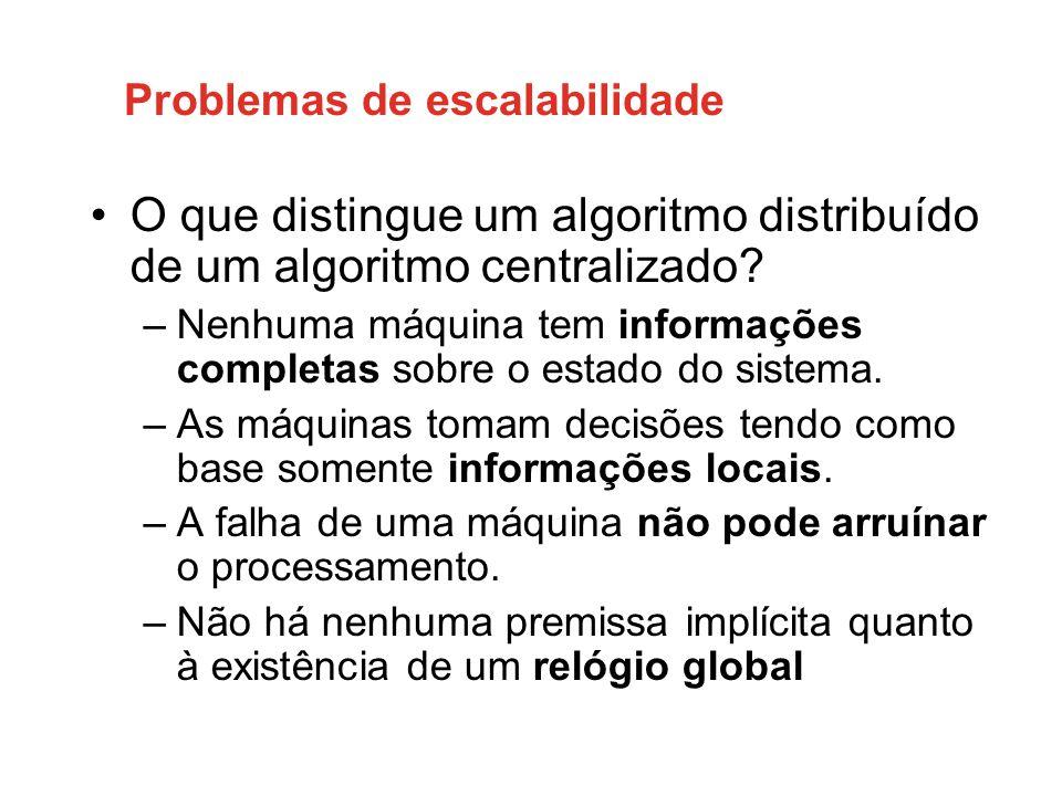 Problemas de escalabilidade