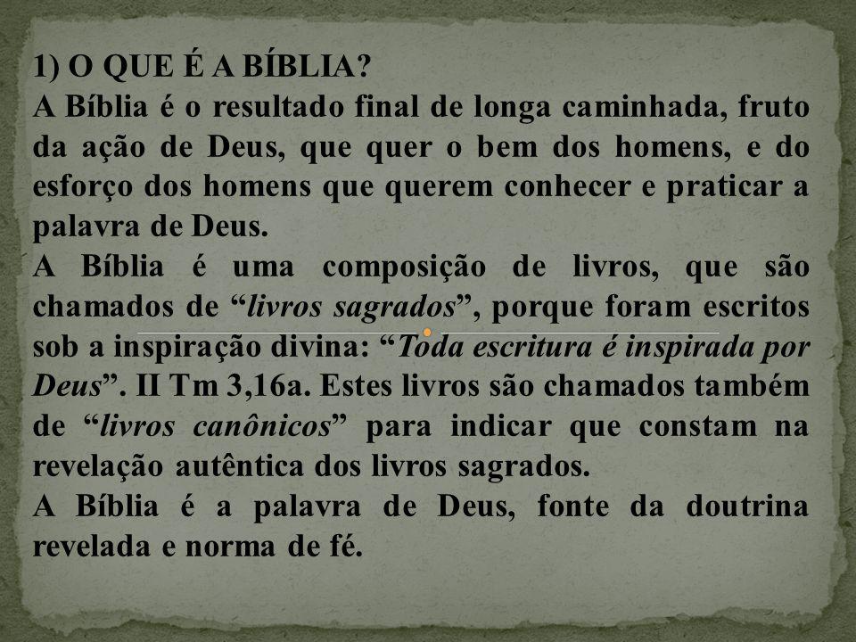 1) O QUE É A BÍBLIA