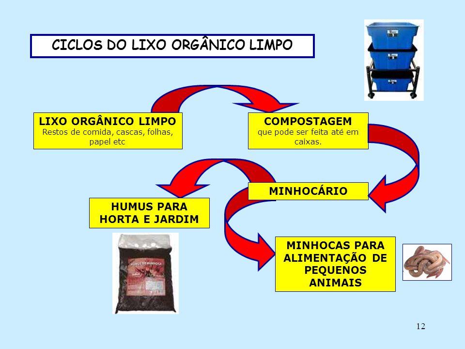 CICLOS DO LIXO ORGÂNICO LIMPO