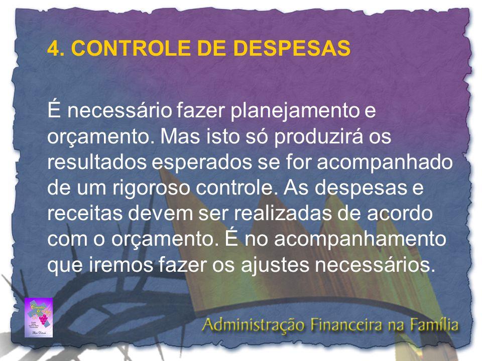 4. CONTROLE DE DESPESAS