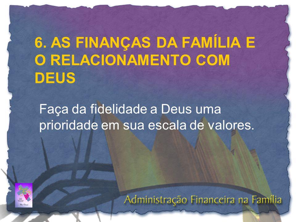 6. AS FINANÇAS DA FAMÍLIA E O RELACIONAMENTO COM DEUS