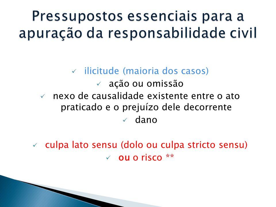 Pressupostos essenciais para a apuração da responsabilidade civil