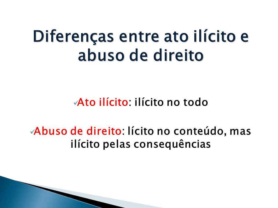 Diferenças entre ato ilícito e abuso de direito
