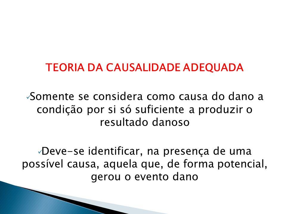 TEORIA DA CAUSALIDADE ADEQUADA