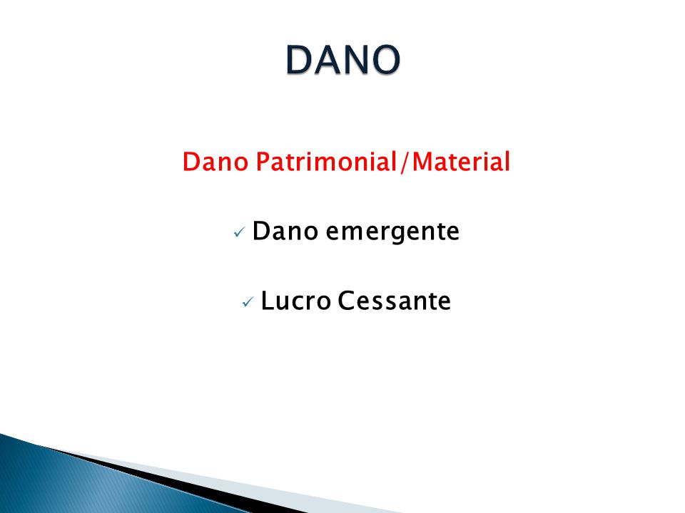 Dano Patrimonial/Material