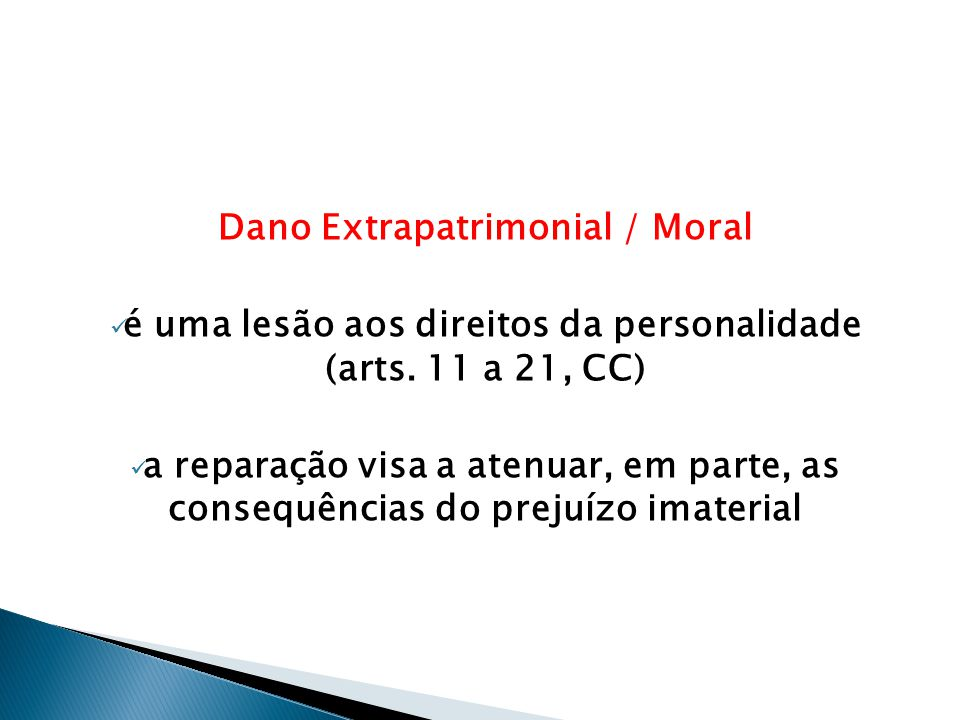 Dano Extrapatrimonial / Moral
