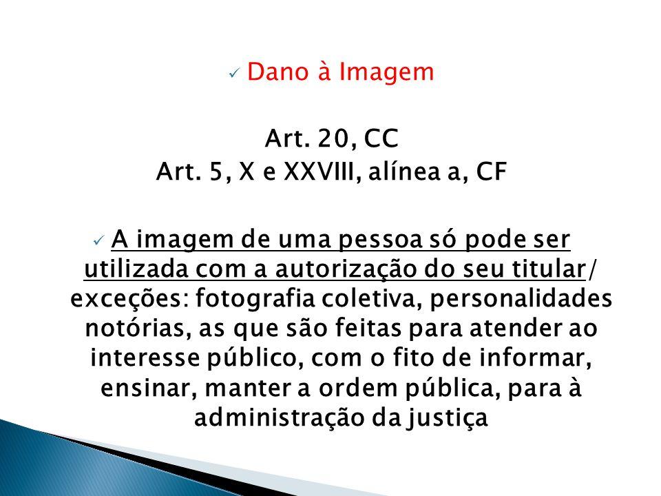Art. 5, X e XXVIII, alínea a, CF