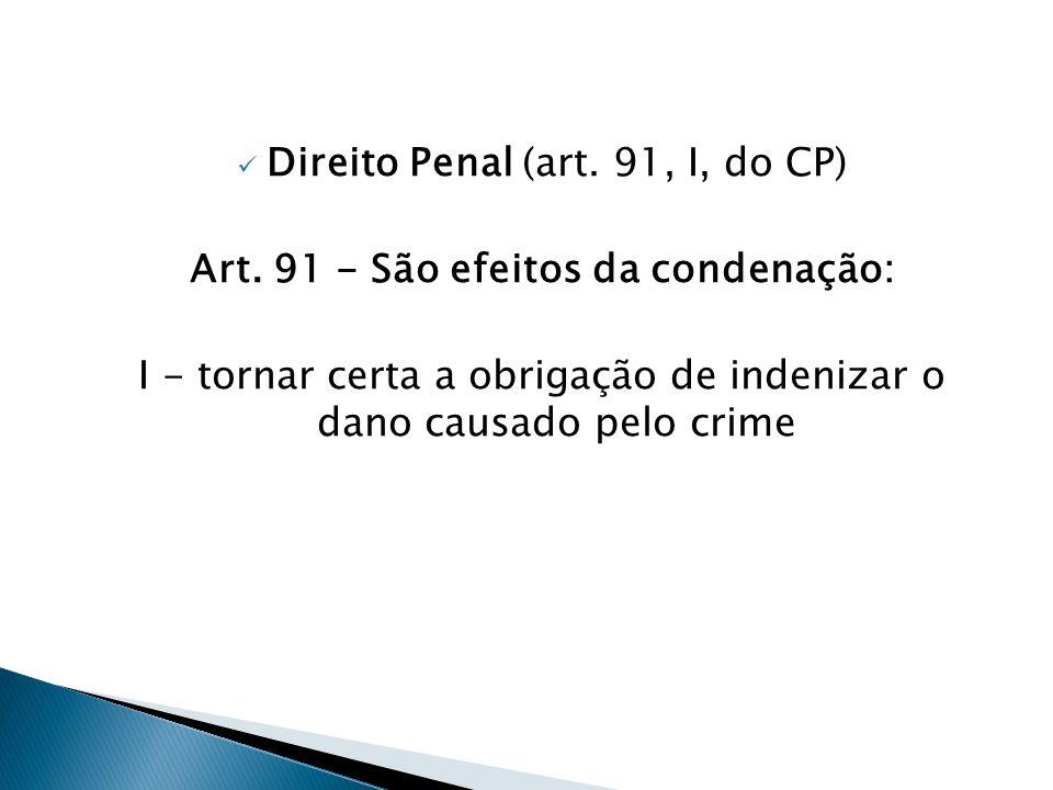 Art. 91 - São efeitos da condenação: