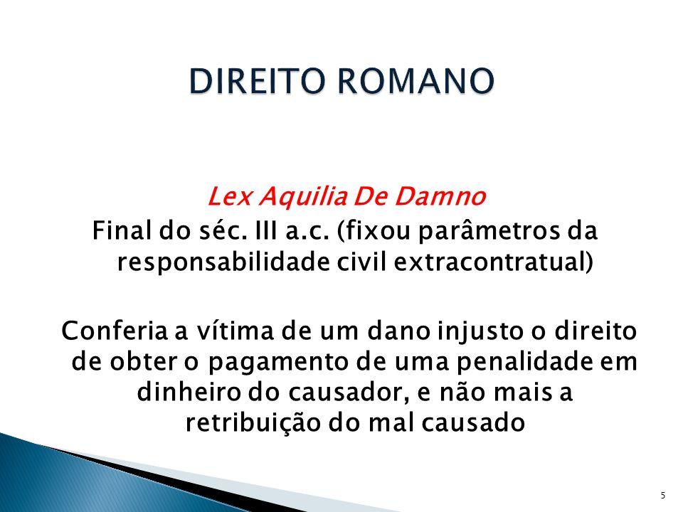 DIREITO ROMANO Lex Aquilia De Damno