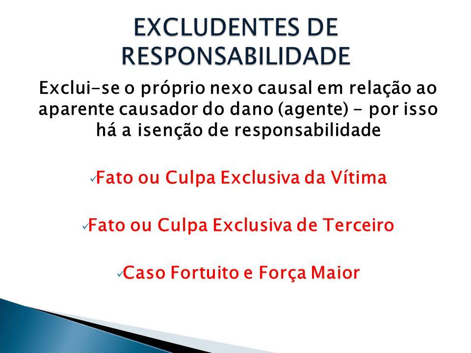EXCLUDENTES DE RESPONSABILIDADE