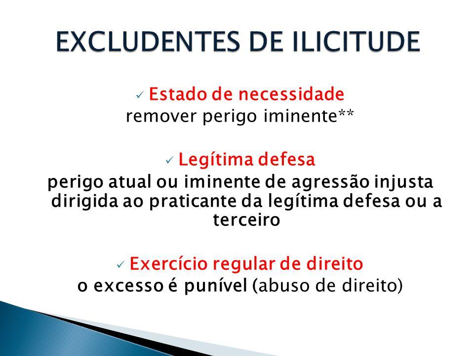 EXCLUDENTES DE ILICITUDE