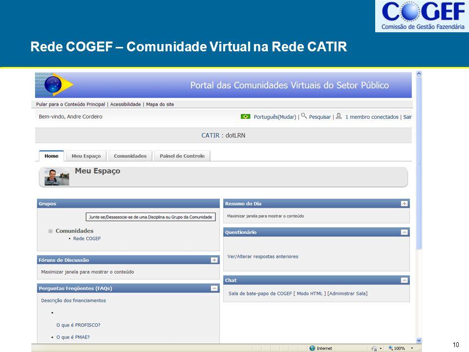 Rede COGEF – Comunidade Virtual na Rede CATIR