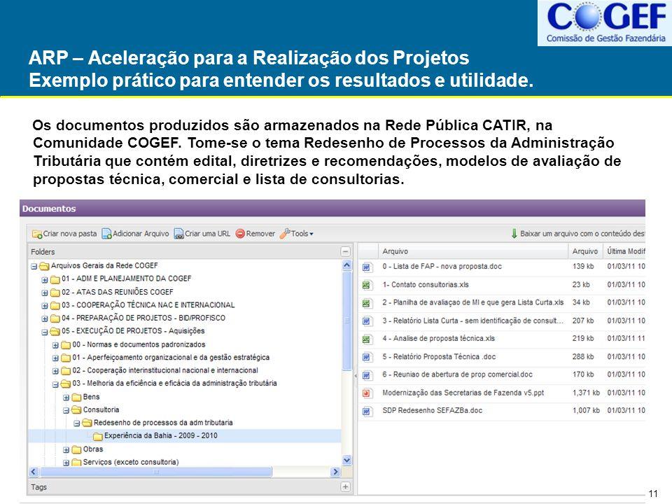 ARP – Aceleração para a Realização dos Projetos