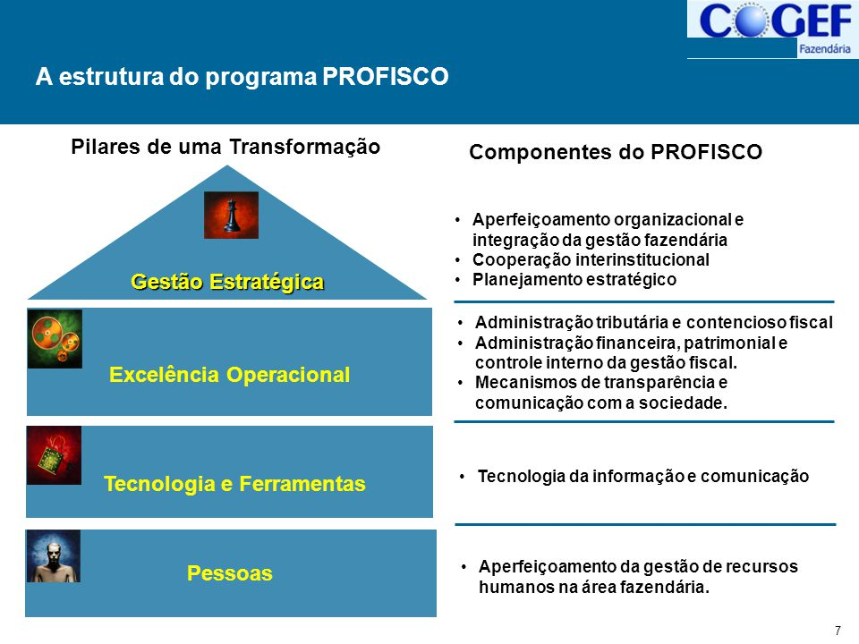 A estrutura do programa PROFISCO