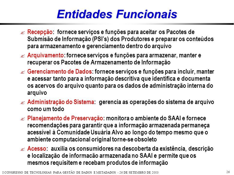 Entidades Funcionais