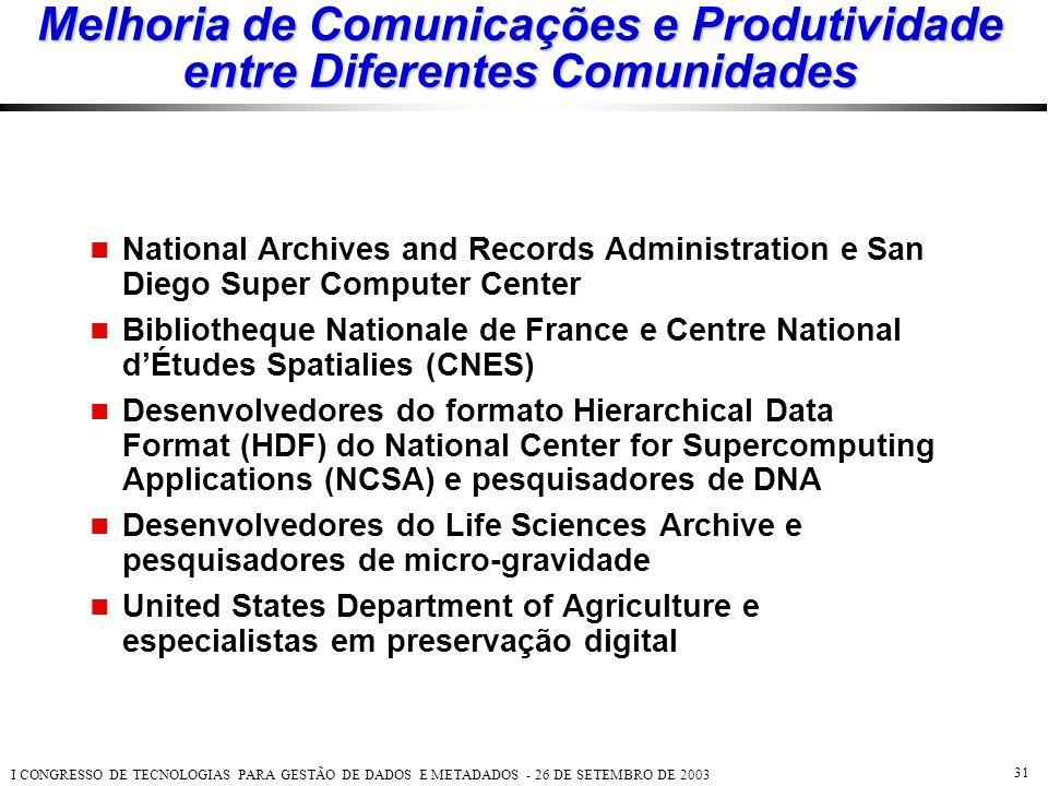 Melhoria de Comunicações e Produtividade entre Diferentes Comunidades