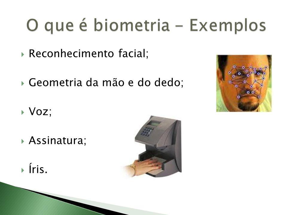 O que é biometria - Exemplos