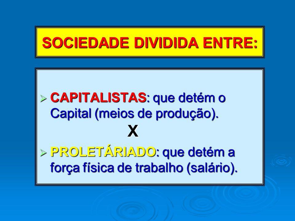 SOCIEDADE DIVIDIDA ENTRE: