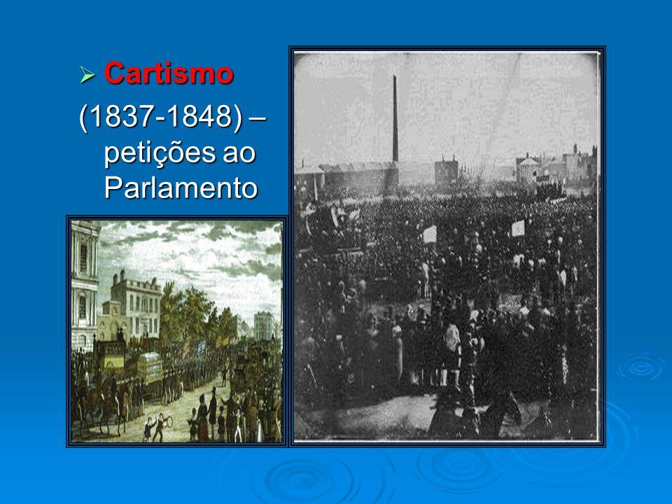 Cartismo (1837-1848) – petições ao Parlamento