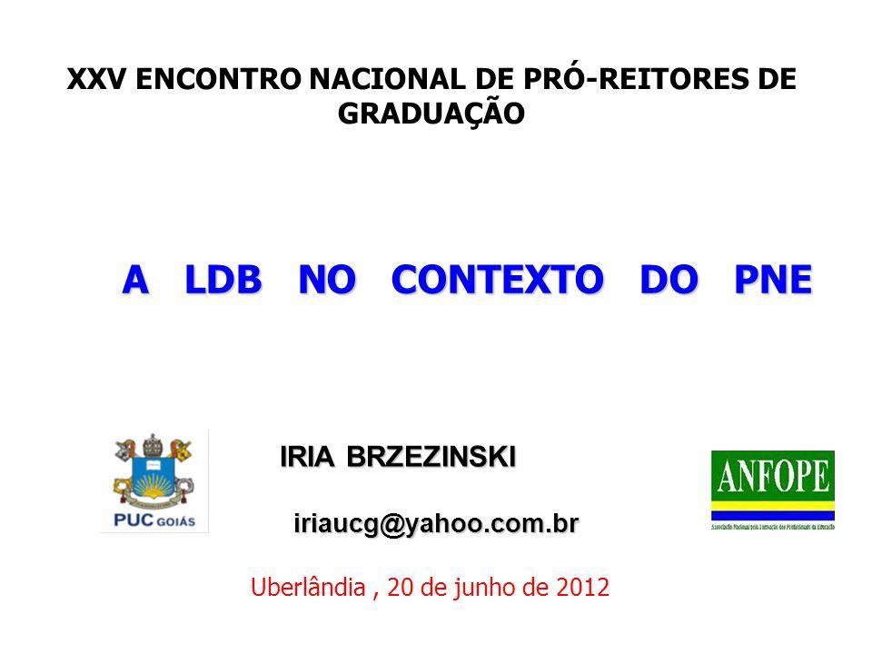 XXV ENCONTRO NACIONAL DE PRÓ-REITORES DE GRADUAÇÃO