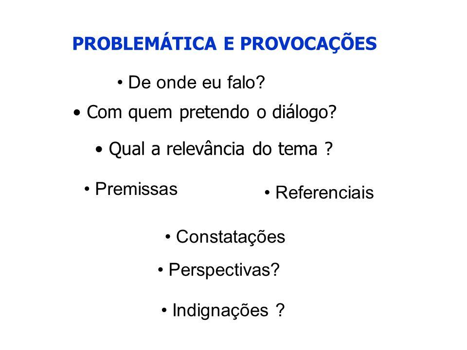 PROBLEMÁTICA E PROVOCAÇÕES