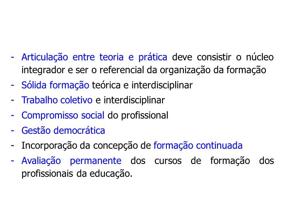 Articulação entre teoria e prática deve consistir o núcleo integrador e ser o referencial da organização da formação