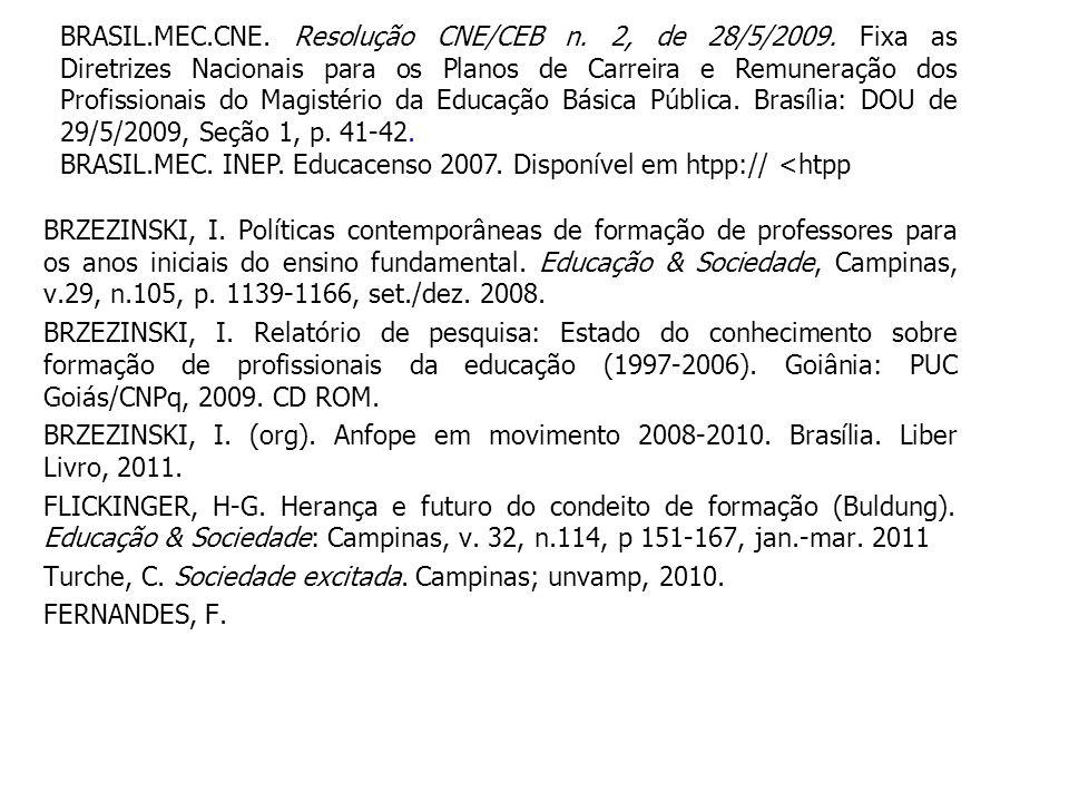 BRASIL. MEC. CNE. Resolução CNE/CEB n. 2, de 28/5/2009