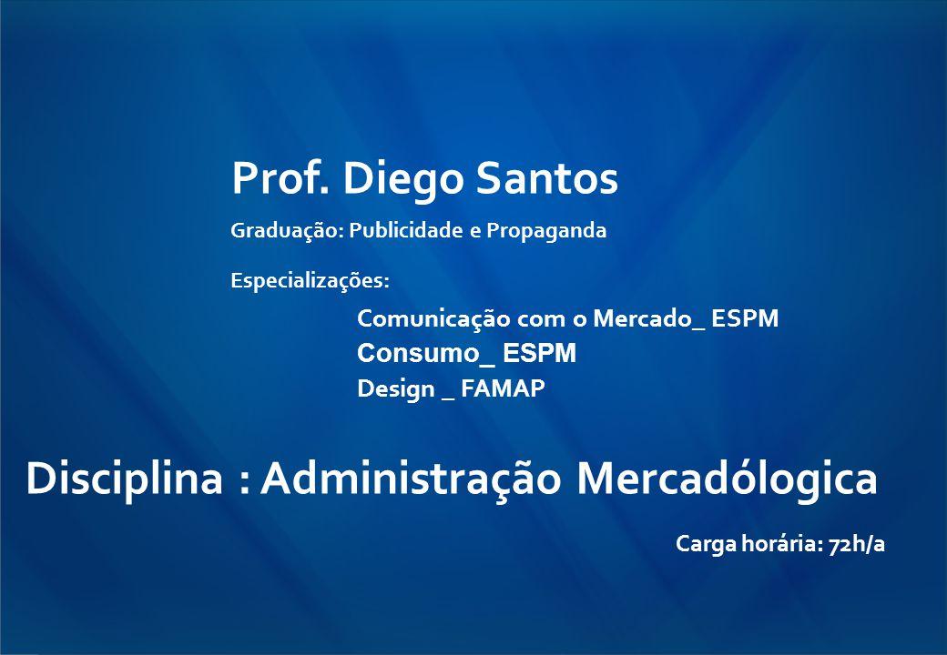 Disciplina : Administração Mercadólogica Carga horária: 72h/a
