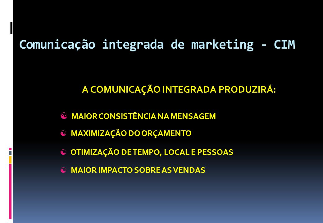 Comunicação integrada de marketing - CIM
