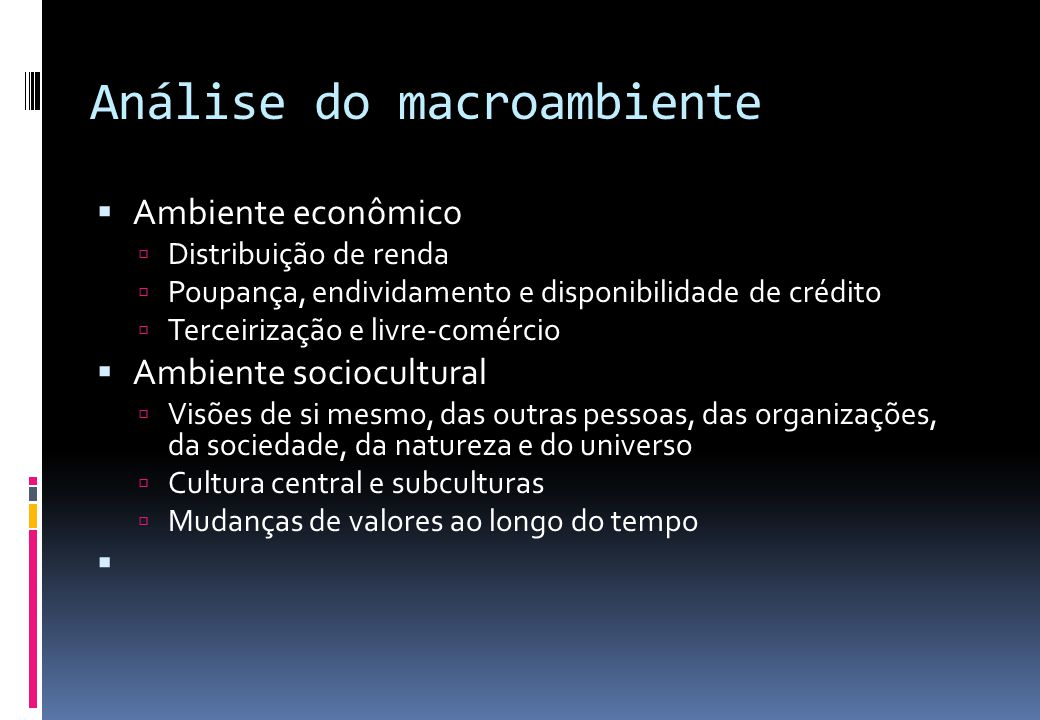 Análise do macroambiente