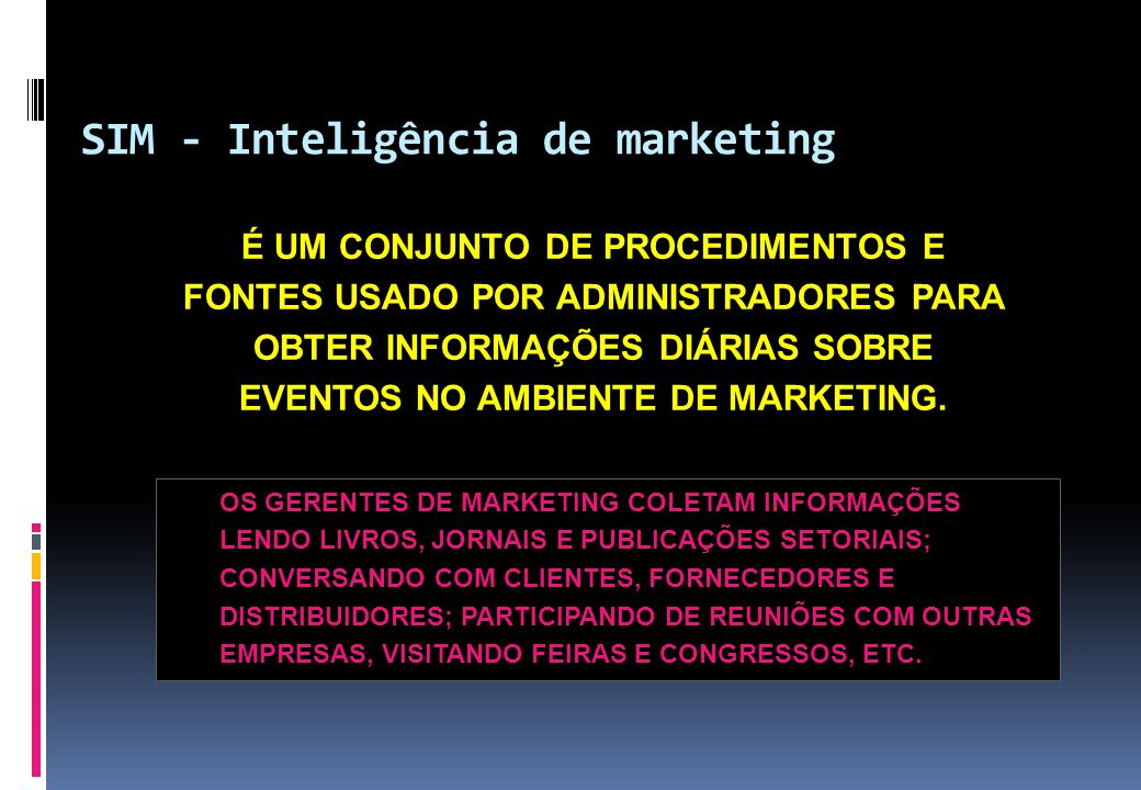 SIM - Inteligência de marketing
