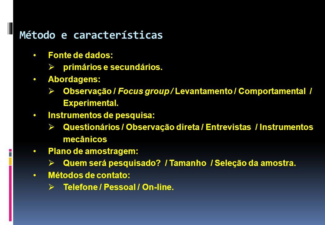 Método e características