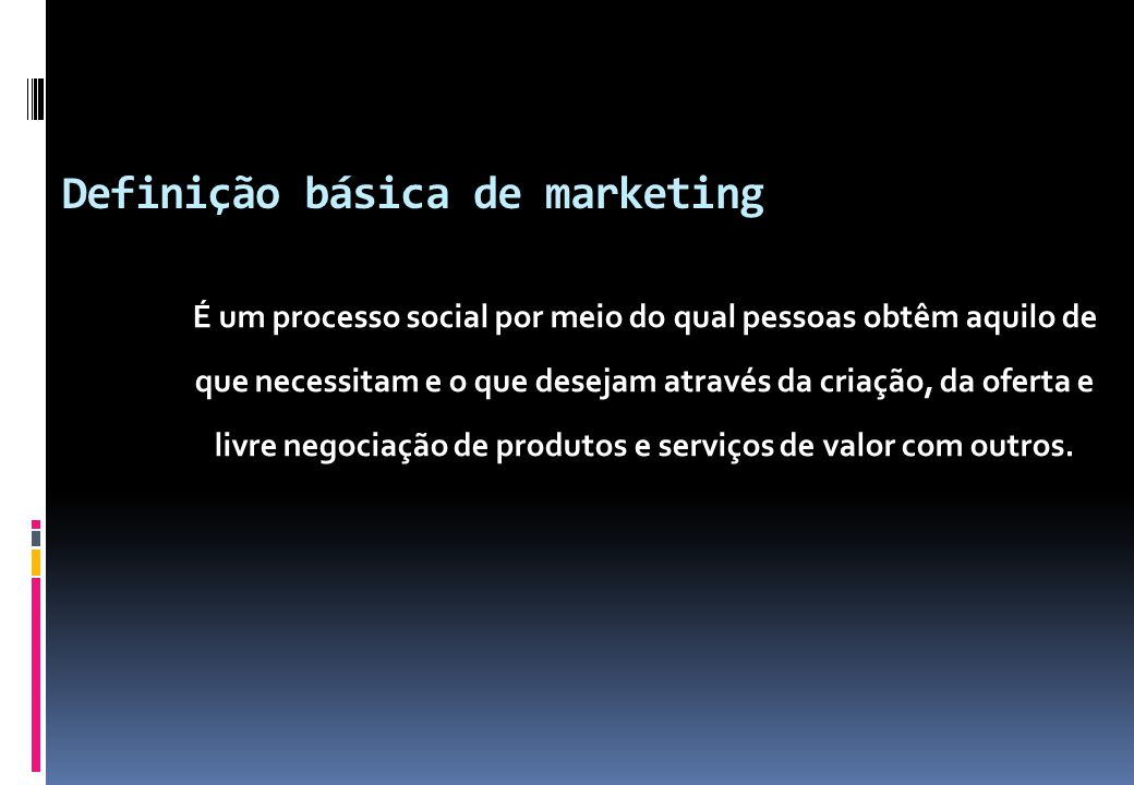 Definição básica de marketing