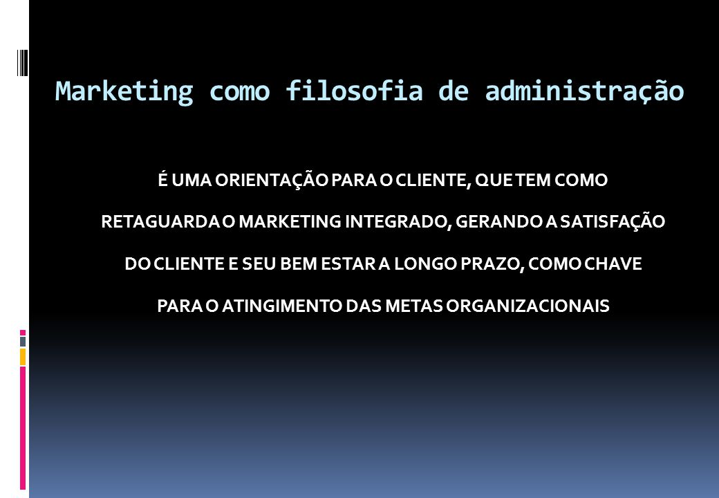 Marketing como filosofia de administração
