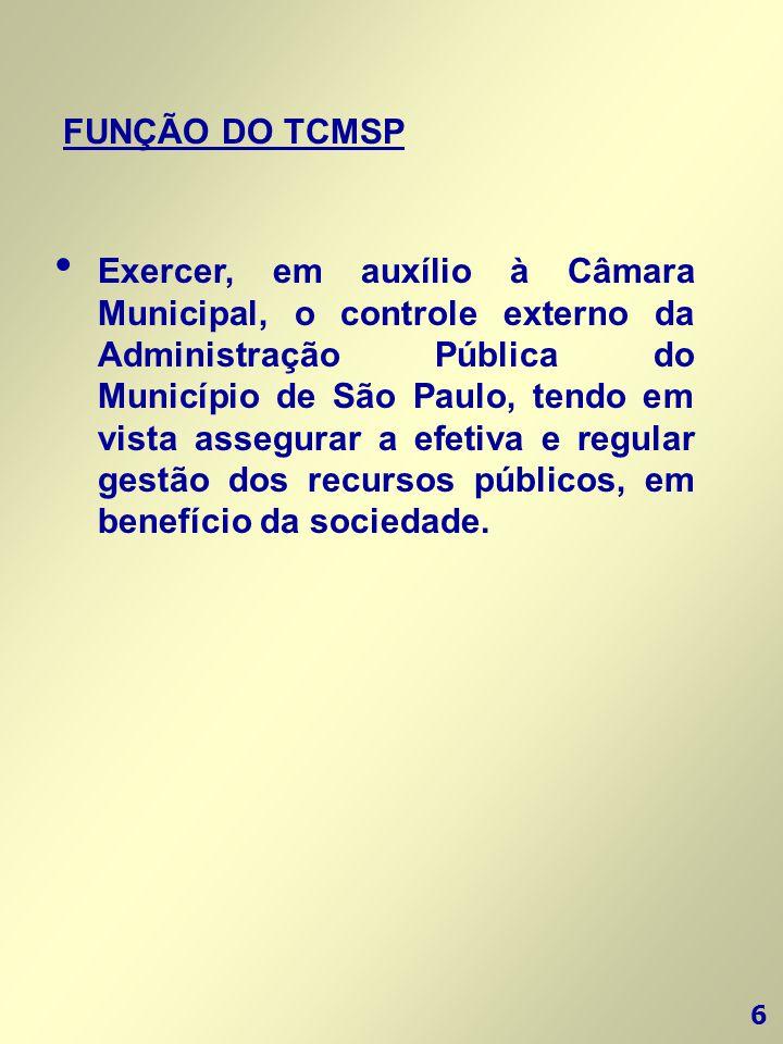 FUNÇÃO DO TCMSP