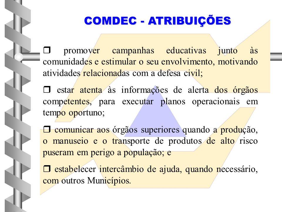 COMDEC - ATRIBUIÇÕES