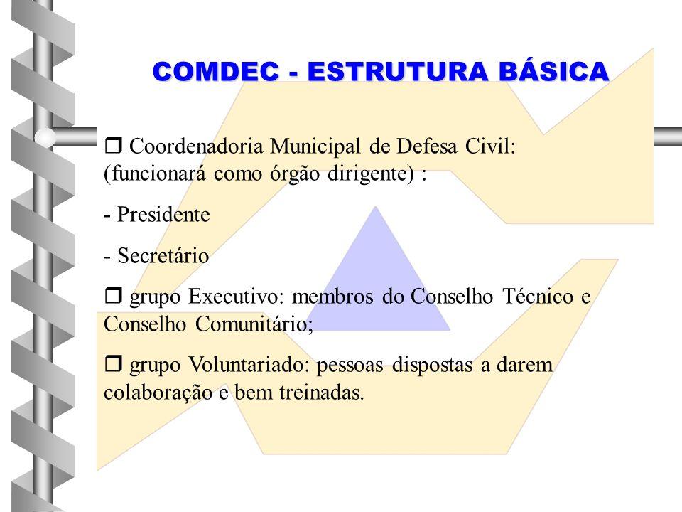 COMDEC - ESTRUTURA BÁSICA