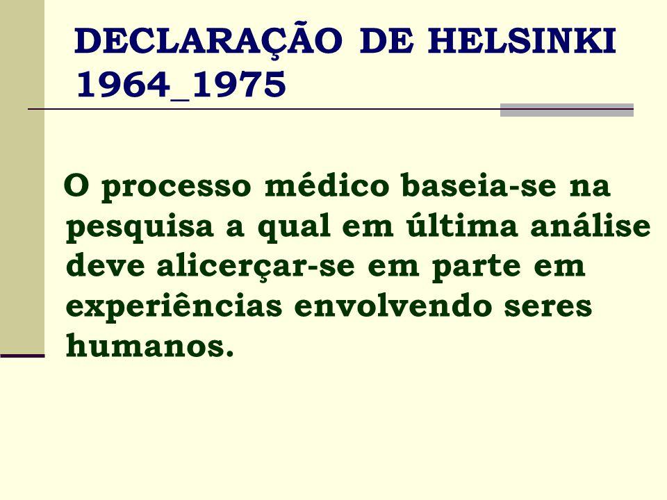 DECLARAÇÃO DE HELSINKI 1964_1975