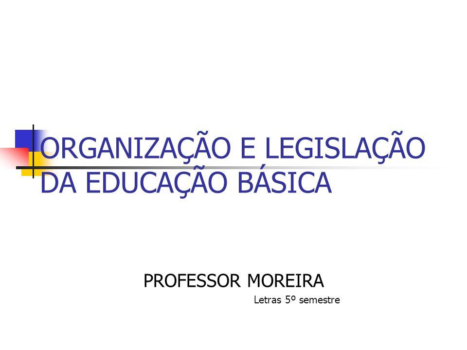ORGANIZAÇÃO E LEGISLAÇÃO DA EDUCAÇÃO BÁSICA