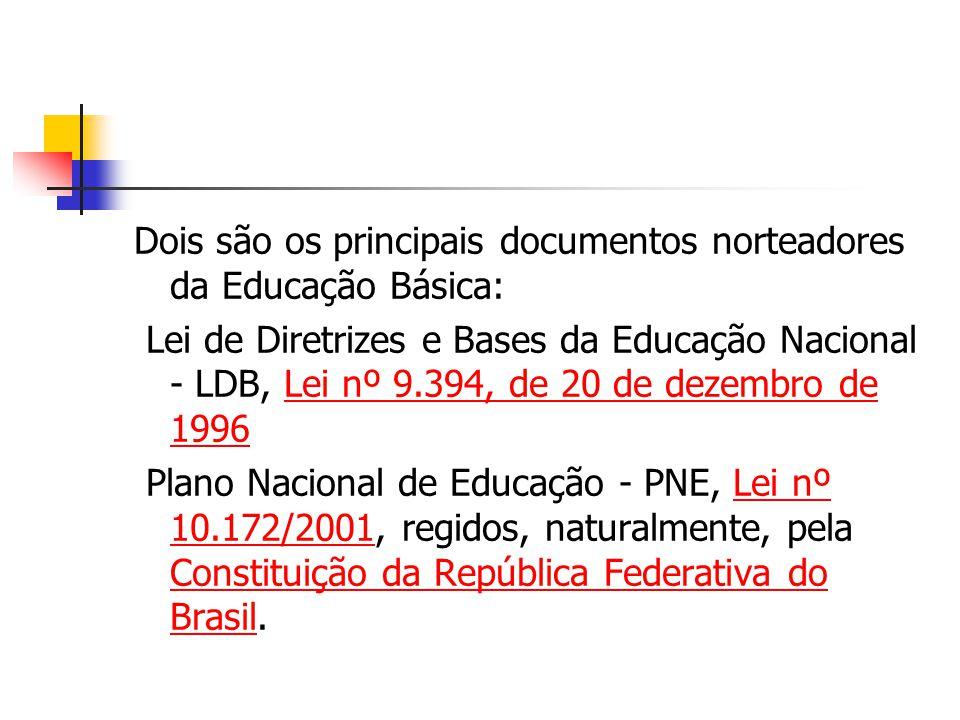 Dois são os principais documentos norteadores da Educação Básica: