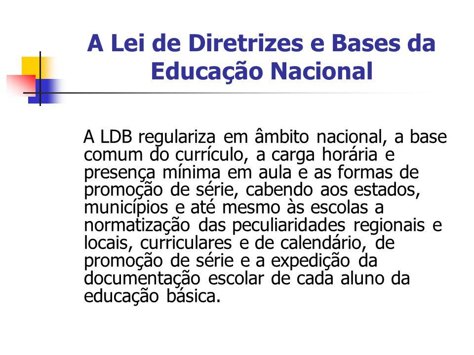 A Lei de Diretrizes e Bases da Educação Nacional