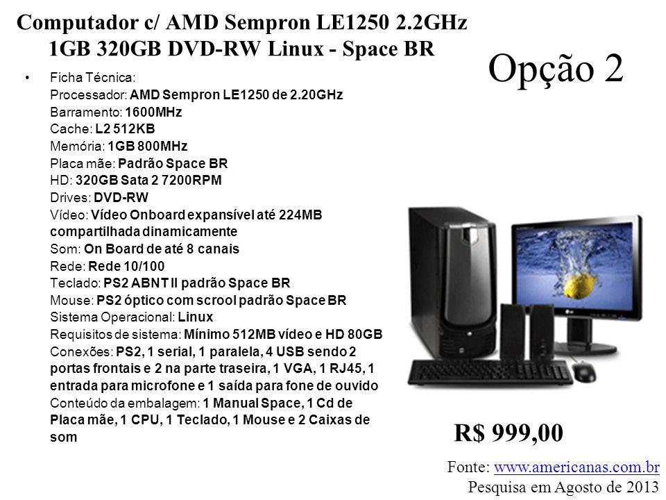 Computador c/ AMD Sempron LE1250 2