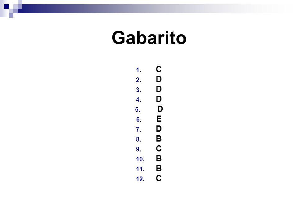 Gabarito C D E B