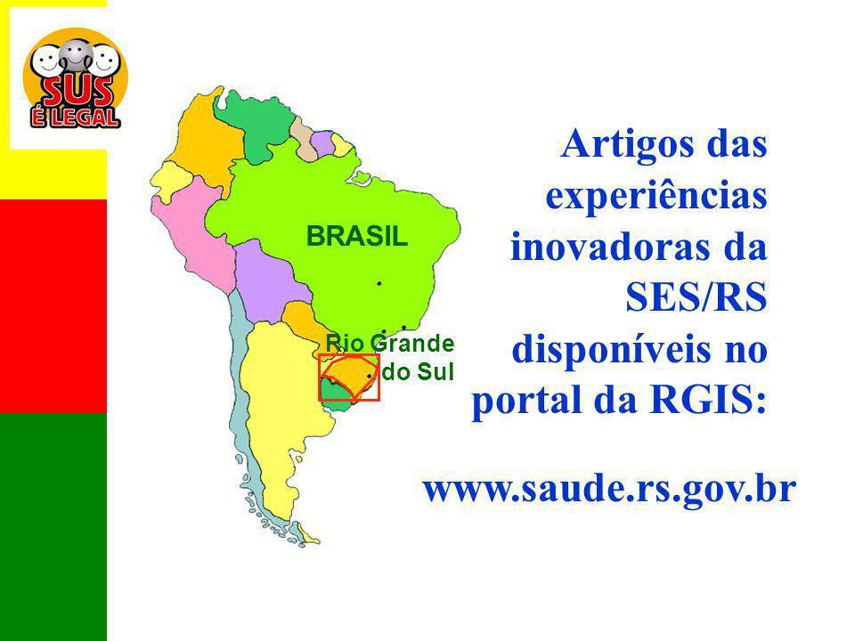 Artigos das experiências inovadoras da SES/RS disponíveis no portal da RGIS: