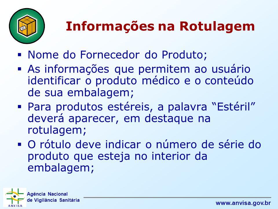 Informações na Rotulagem