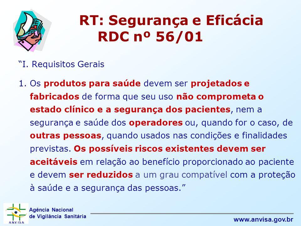RT: Segurança e Eficácia RDC nº 56/01