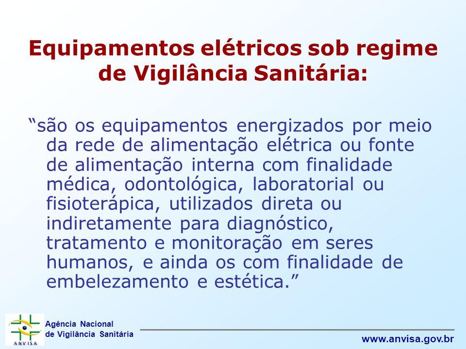 Equipamentos elétricos sob regime de Vigilância Sanitária: